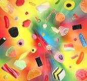 Взрыв конфеты стоковое изображение rf