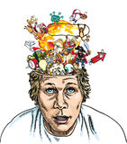 взрыв мозга Стоковое фото RF