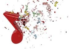 Взрыв музыки Стоковое Изображение RF