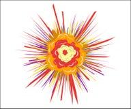 Взрыв, мультфильм Челка, абстрактный творческий дизайн Элемент дизайна вектора изолированный на светлой предпосылке иллюстрация вектора