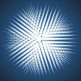 Взрыв на голубую предпосылку Стоковое Фото