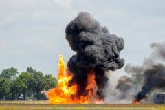 Взрыв огня стоковые фотографии rf