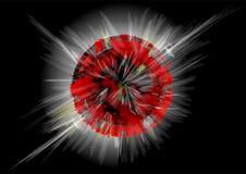Взрыв планеты Стоковое фото RF