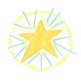 Взрыв Солнця Crayon Стоковые Изображения