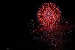 Взрыв фейерверков Стоковые Изображения