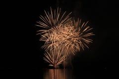 Взрыв фейерверков Стоковое фото RF