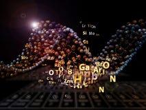 Взрыв химиката Стоковые Изображения