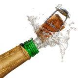 взрыв шампанского Стоковые Фотографии RF