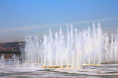 Взрыв льда перед мостом Стоковое Изображение RF