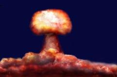 Взрыв ядерной бомбы Стоковое Изображение