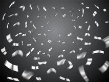 Взрыв Confetti на прозрачной предпосылке бесплатная иллюстрация