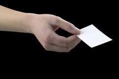 взятие карточки Стоковые Изображения RF