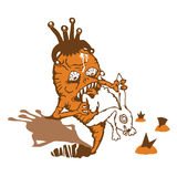 взятия реванша кролика моркови Стоковые Изображения RF