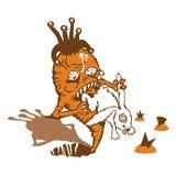 взятия реванша кролика моркови Иллюстрация штока