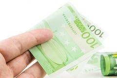 100 взяток евро Стоковое Изображение