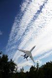 Взлет самолета пассажира Стоковые Фотографии RF