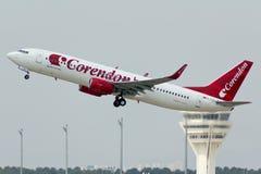Взлет самолета Corendon Стоковое фото RF