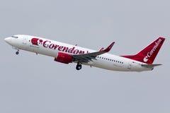 Взлет самолета Corendon Стоковые Изображения