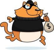 Взломщик кота шаржа Стоковое Изображение RF