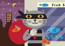 Взломщик кота Бесплатная Иллюстрация