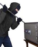 Взломщик раскрывает коробку безопасности Стоковое фото RF