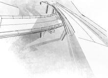 Виадук чертежа Стоковые Фотографии RF