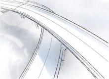 Виадук чертежа Стоковые Изображения RF