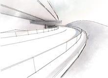 Виадук чертежа Стоковая Фотография RF