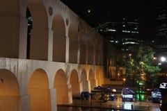 Виадук Arcos de Lapa в Санте Терезе, Рио-де-Жанейро, Бразилии Стоковые Изображения