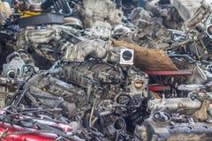 двигатель автомобиля старый стоковое изображение