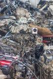 двигатель автомобиля старый стоковые фото