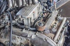двигатель автомобиля старый стоковая фотография rf