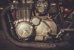 двигатель мотоцикла Каф-гонщика Стоковое фото RF