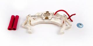 двигатель муфты клиппирования автомобиля автомобильный изолировал белизну путя части Стоковые Фото