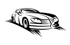 двигать автомобиля Стоковые Изображения