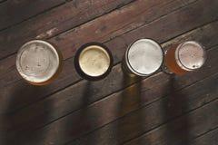 4 вида пива Стоковая Фотография RF
