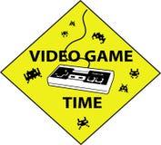 видеоигра времени знака Стоковое Изображение