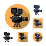 видеокамера, кино Значок, логотип, символ, значок бесплатная иллюстрация