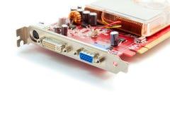 Видеокарта компьютера на белой предпосылке стоковое фото rf