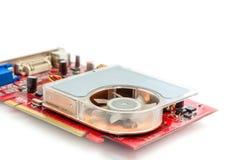Видеокарта компьютера на белой предпосылке стоковые изображения rf