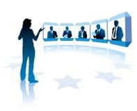 Видеоконференция бесплатная иллюстрация