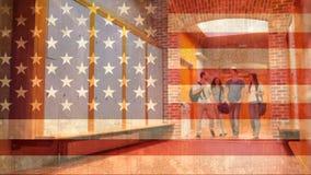 Видео американского флага сток-видео