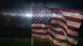 Видео американского флага акции видеоматериалы