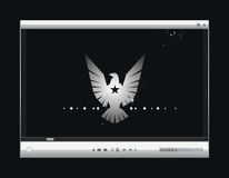 видео вектора экрана игрока Стоковая Фотография