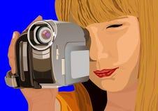 видео девушки камеры бесплатная иллюстрация