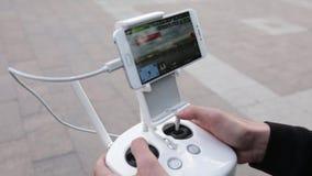 Видео дистанционного управления летания трутня и quadcopter сток-видео