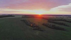 Видео захода солнца от воздуха