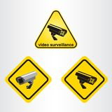 Видео- знак наблюдения иллюстрация вектора