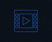 Видео- значок знака Символ видео- рамки Стоковые Изображения