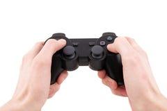 видео игры регулятора изолированное рукой Стоковая Фотография